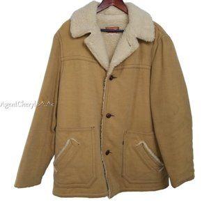 Vintage LEVIS Mens XL Tan Trucker Jacket Sherpa